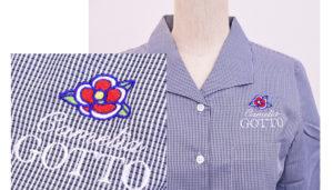 シャツ刺繍
